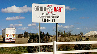 Grainhart site entrance